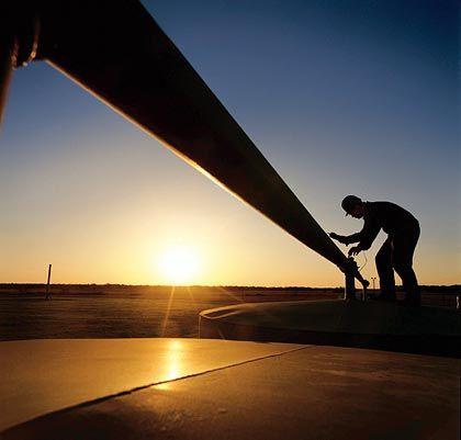 Wachstumsgeschäft: Messungen an einer Gaspipeline in Sibirien