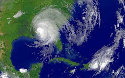 Das Satellitenbild zeigt die gewaltigen Ausmaße des Hurrikans