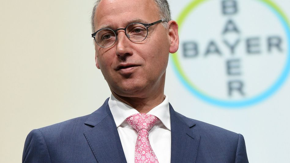 Bayer-Chef Werner Baumann: Mit Umsatz- und Dividendensteigerungen gegen den Kursverfall