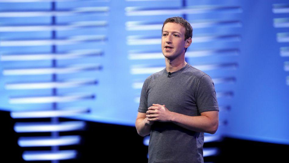 Mark Zuckerberg, 33 Jahre alt.