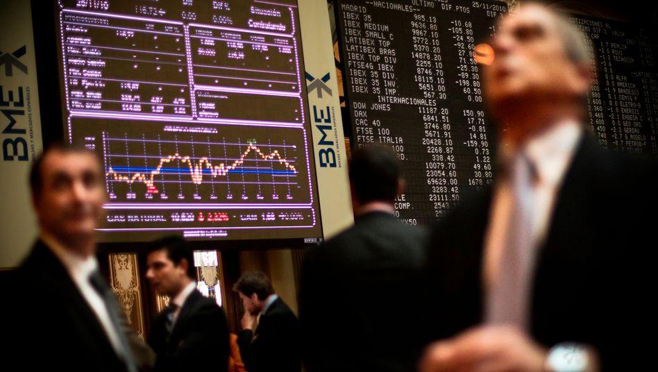 Börse in Madrid: Die Regierungskrise sorgte für Chaos