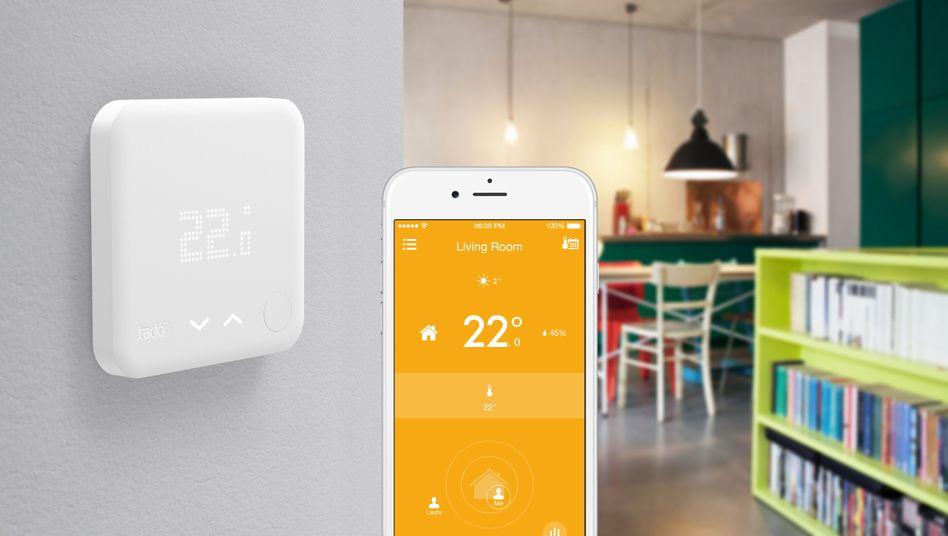 Ein Tado-Thermostat: Das jüngst gepäppelte Unternehmen will Googles Tochter Nest angreifen