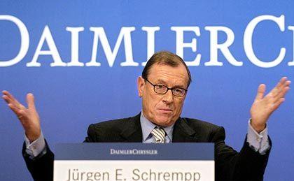 """""""Alle Forderungen waren grundlos:"""" DaimlerChrysler-Chef Jürgen Schrempp"""