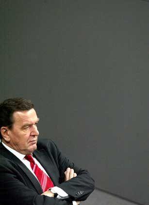 Gerhard Schröder im Stimmungstief