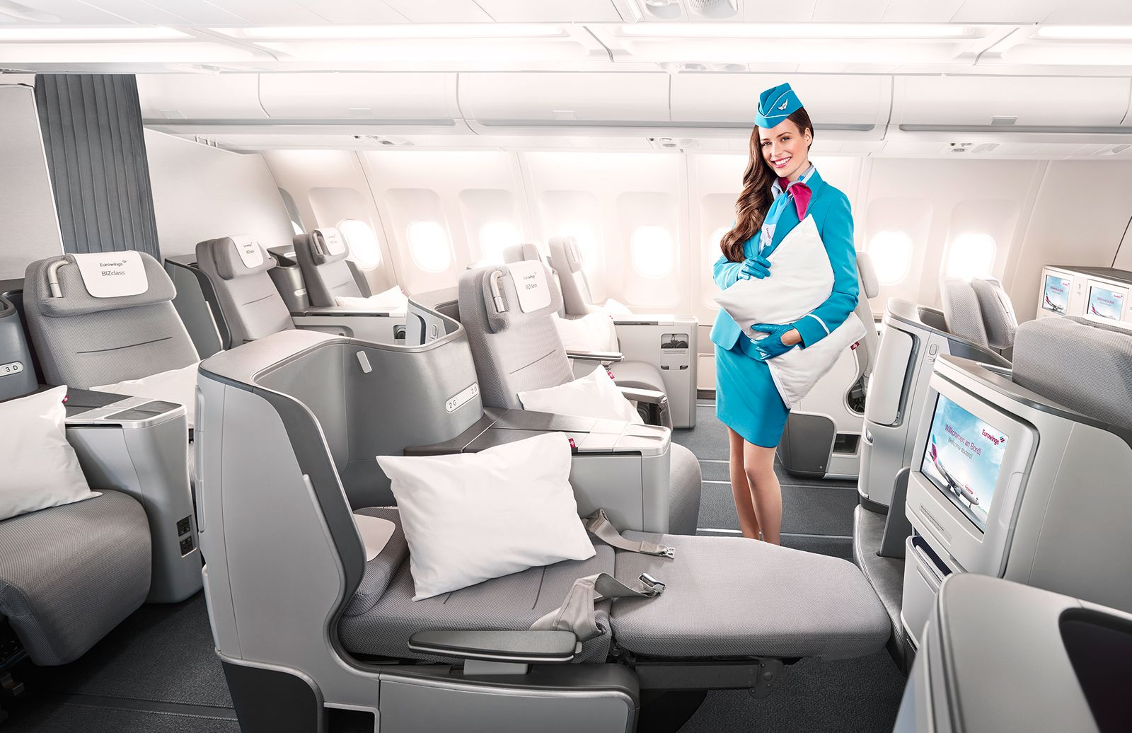 Eurowings BIZclass â Lie-flat Seat