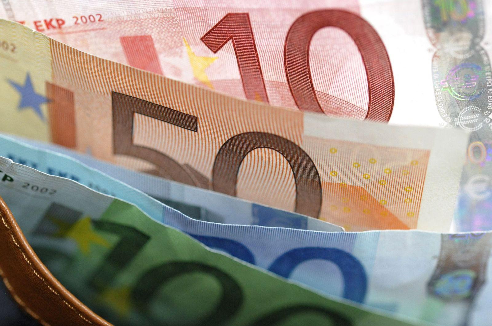 NICHT VERWENDEN Banknoten in der Geldboerse