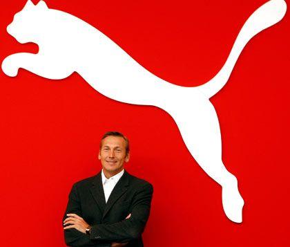 Springt schon: Das scheint Puma-Vorstand Zeitz angesichts der zaudernden Anleger zu denken
