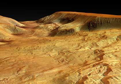 Tal Ophir Chasma: Geformt von Vulkanen, Wasser oder Gletschern