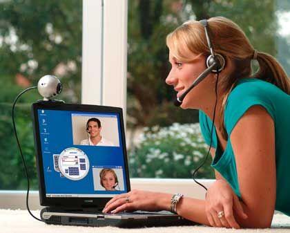 Früher Utopie, heute Alltag: Wer telefoniert, kann den Gesprächspartner via Internet auch sehen