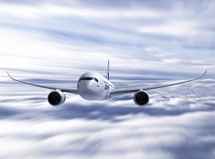 Hoffnungsträger: Computersimulation des Airbus A350 XWB