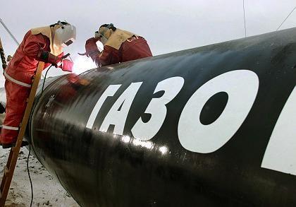 Stein des Anstoßes: Der Bau der Ostsee-Pipeline hat bereits begonnen