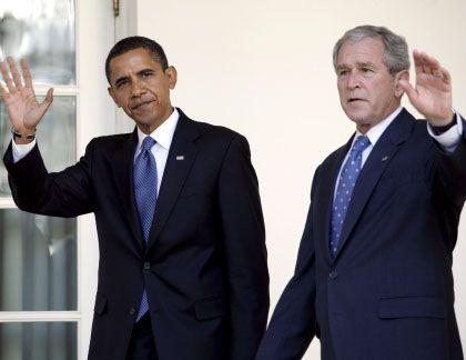 Erneuerer und Ölmann: Barack Obama und Vorgänger George W. Bush bereiten die Amtsübergabe vor