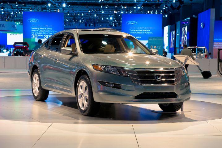 Honda-Fahrzeug auf einer US-Automesse: Der japanische Hersteller musste Software-Probleme beheben