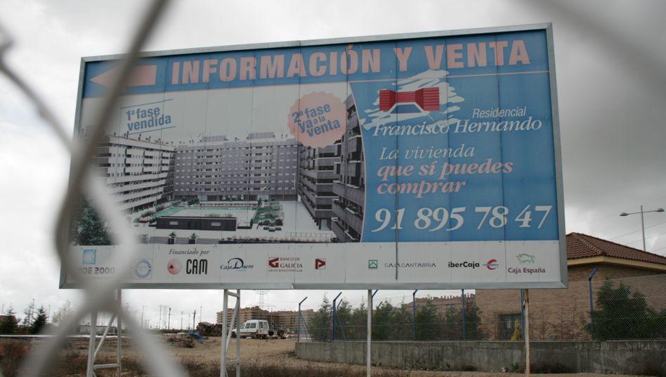 Siedlung El Quinon im Süden Madrids: Viele Immobilienprojekte in Spanien derzeit auf Eis gelegt