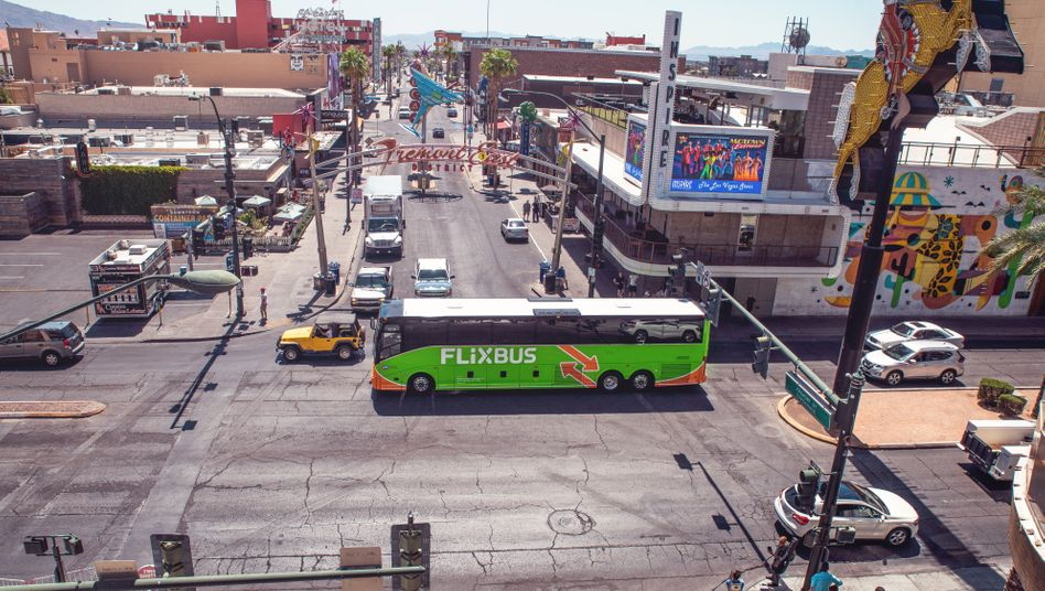 Flixbus-Fahrzeug in Las Vegas