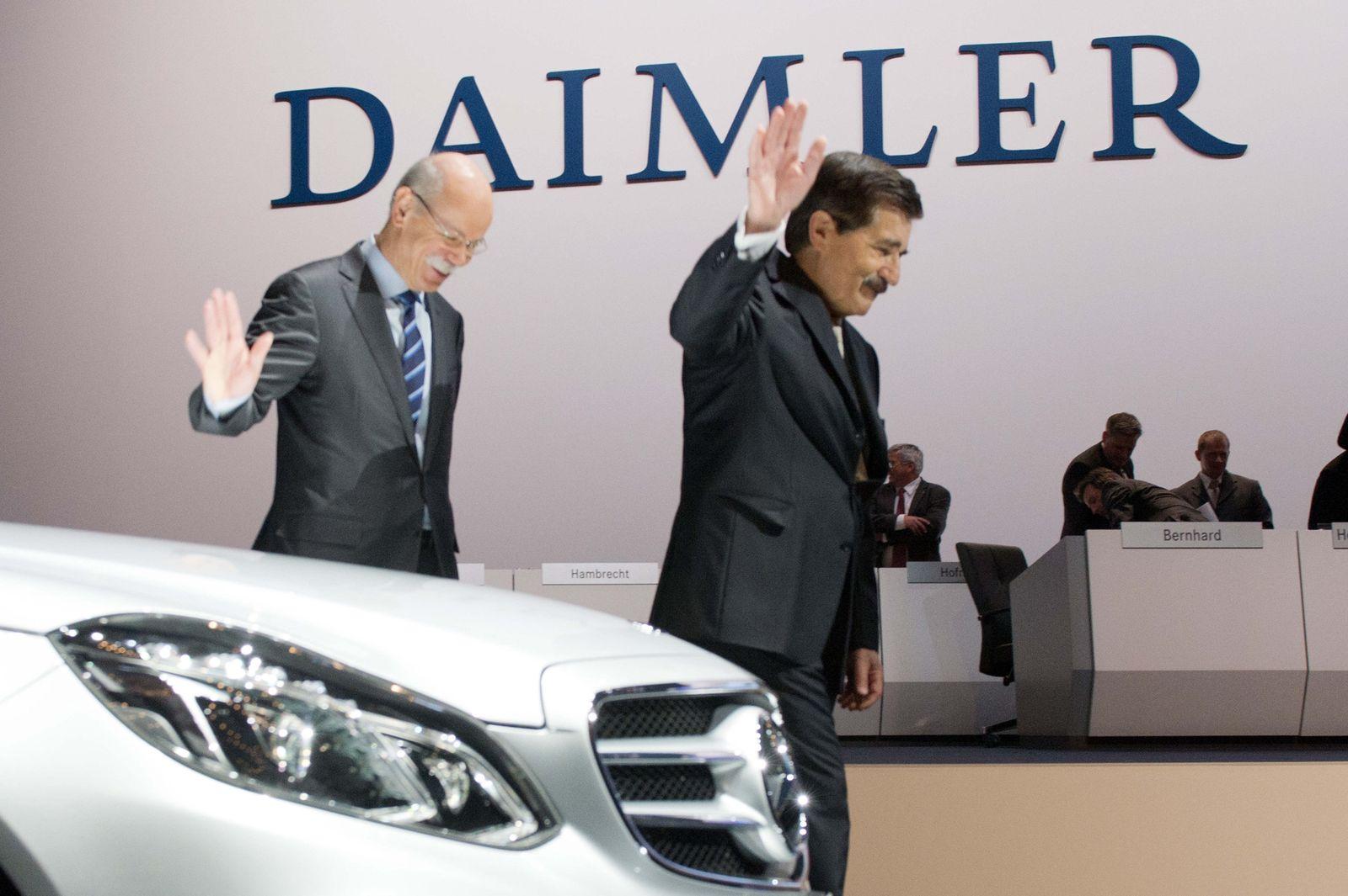 Zetsche / Bischhoff / Daimler-HV