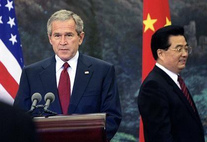 "Bush, Hu Jintao (am 20. November 2005 in Peking): ""Große Vorteile"""