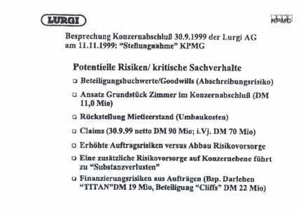 "Dokument 2: ""Potentielle Risiken/ kritische Sachverhalte"""