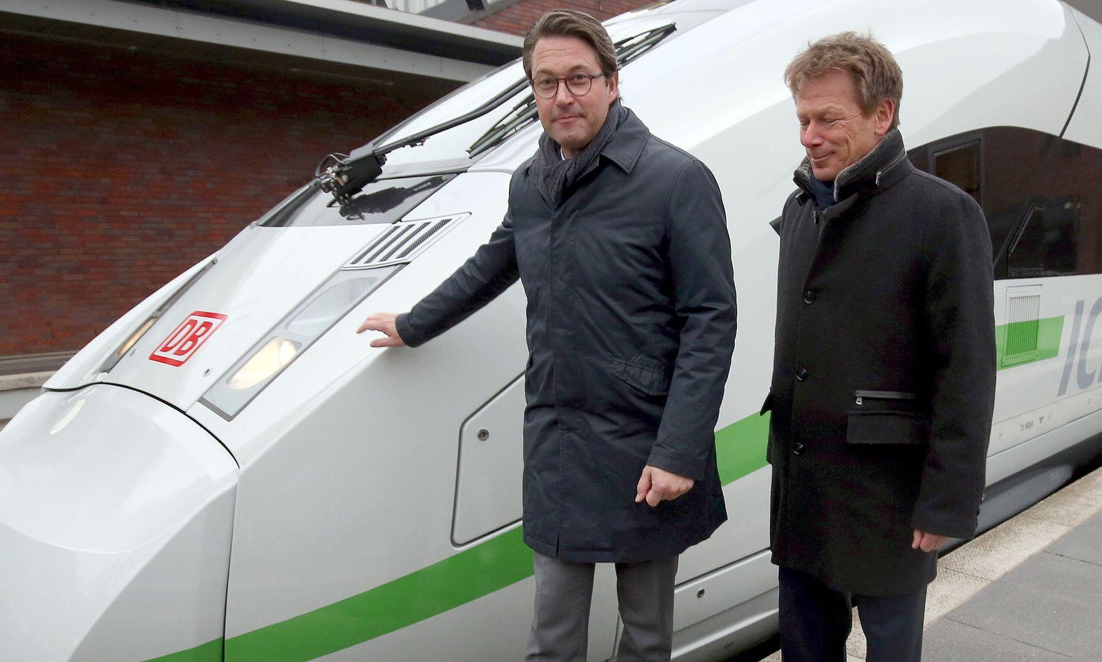 Andreas Scheuer und Bahnchef Richard Lutz