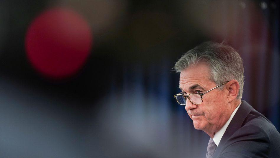 """""""Wir werden in den nächsten sechs Wochen viel lernen"""": Fed-Chef Jerome Powell."""