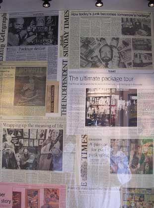 Presse: Internationale Clippings über Robert Opie