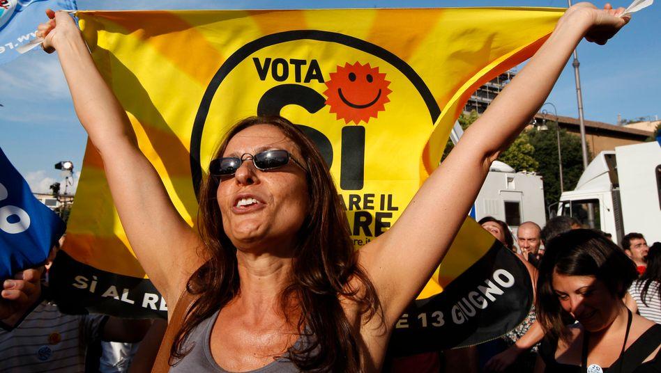 Krachende Mehrheit bei der Volksabstimmung: Knapp 95 Prozent der abstimmenden Italiener sprachen sich gegen eine Rückkehr zur Atomkraft aus