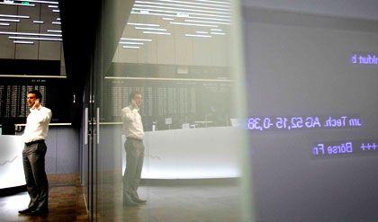 Börse in Frankfurt: Warten auf Quartalszahlen von der Wall Street