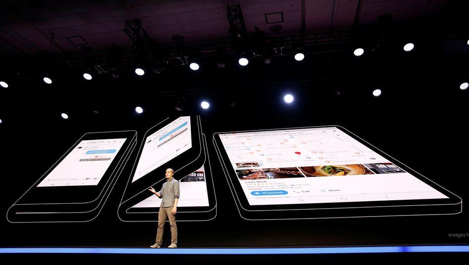 Faltbares Display: Samsung stellt Anfang November seine Smartphone-Neuentwicklung vor