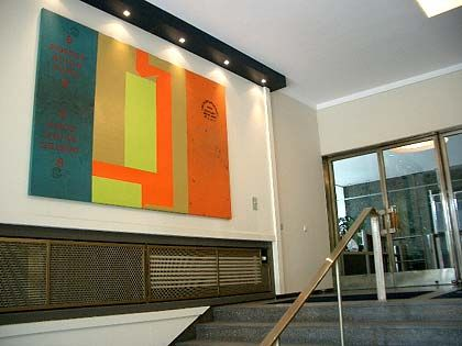 Foyer der Gasag: Helle, einladende Farben stehen im Vordergrund