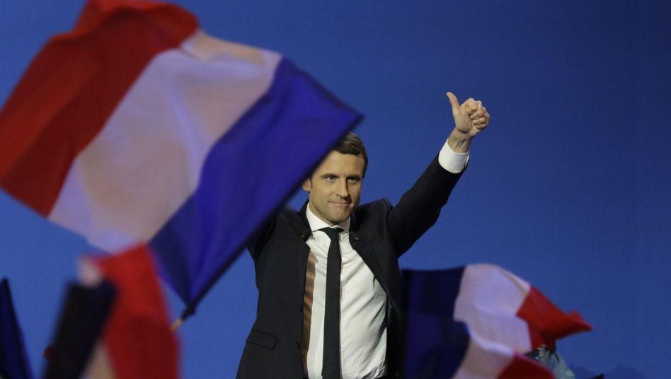 Frankreichs Präsident Emmanuel Macron: Befreit vom Regierungsjochist in seinem Land von Luxus bis Industrie eine neue Generation führender Unternehmen entstanden