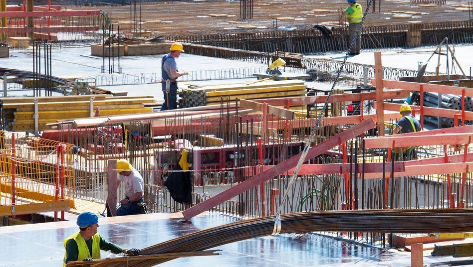 Baustelle: Auf dem Bau herrscht praktisch Vollbeschäftigung