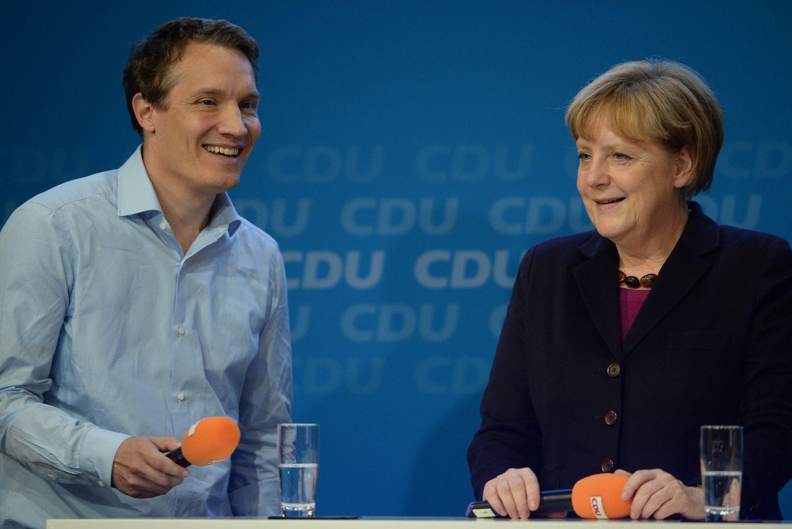 Oliver Samwer / Angela Merkel