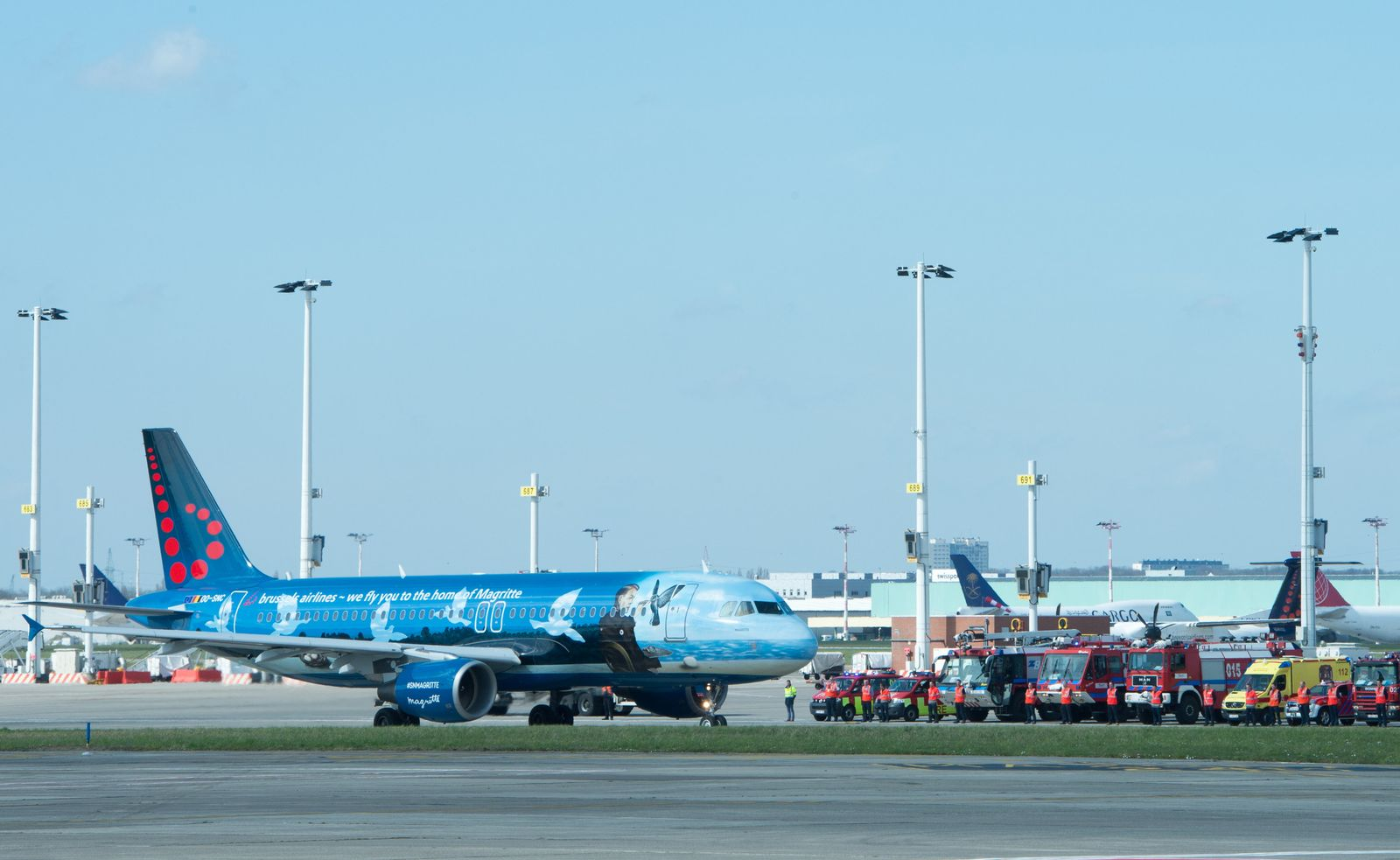 Belgien Brüssel Flughafen