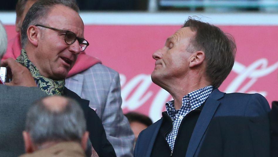 """Karl-Heinz Rummenigge (li) und Hans-Joachim Watzke (re): """"Die Fifa muss aufpassen"""""""