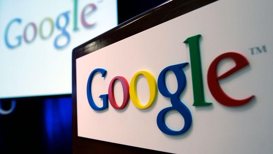 Google-Logo in der Firmenzentrale in Kalifornien