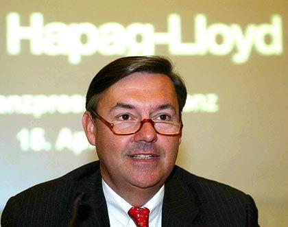 Glänzende Zahlen präsentiert: Michael Behrendt, Vorstandschef von Hapag Lloyd