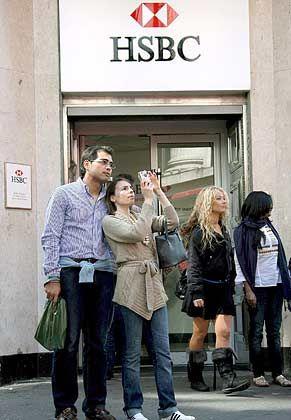 Blick nach Asien:HSBC-Filiale in London