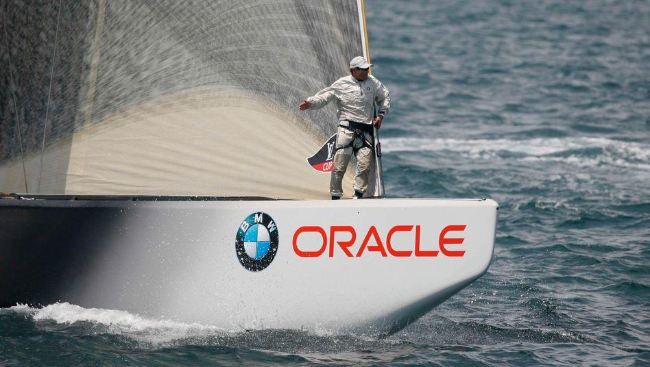 Auf zu neuen Ufern: Der Software-Konzern Oracle, der auch dieses Segelboot sponsert, verlegt seinen Sitz nach Texas