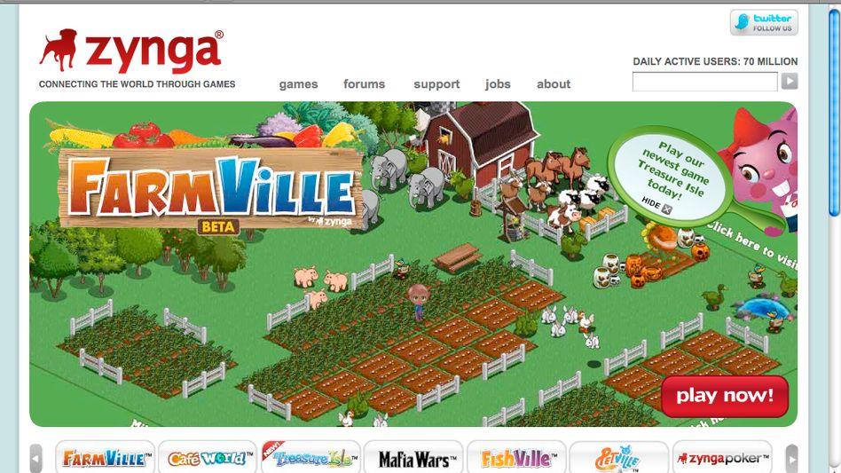 """Onlinespiel """"Farmville"""": Durch Facebook mehr als 220 Millionen Spieler pro Monat"""