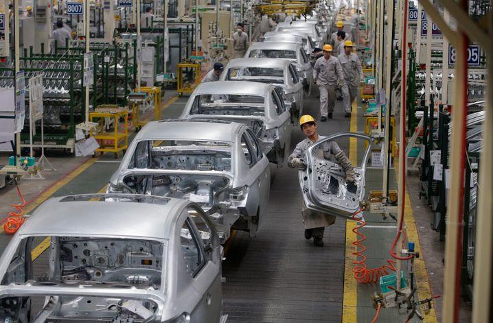 Peugeot-Dongfeng-Werk in Wuhan: Auch bei PSA sind die Aussichten für China in diesem Jahr schlechter als zuletzt