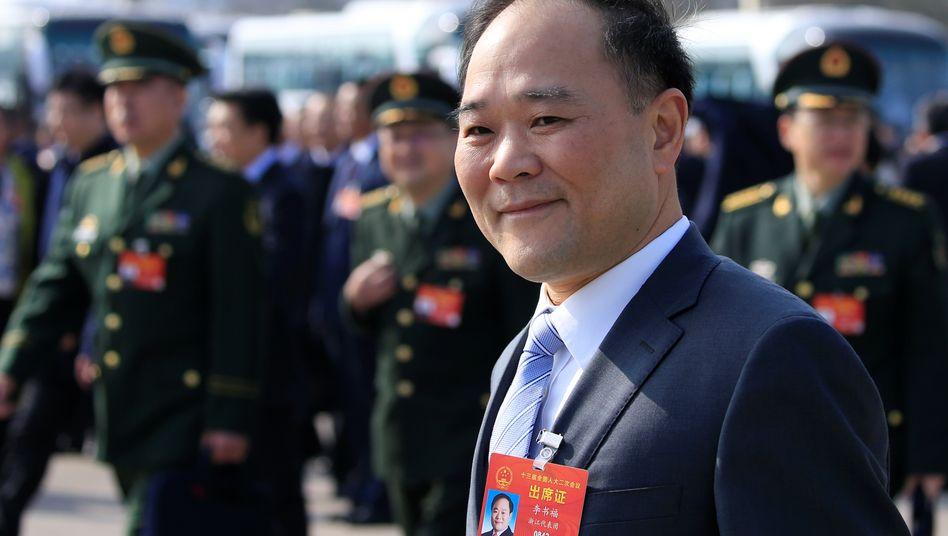Geely-Chef Li Shufu beim letzten Nationalkongress der kommunistischen Partei Chinas im März