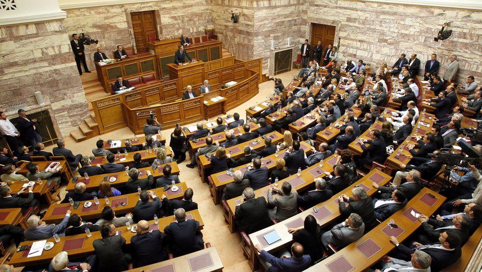 Parlament in Athen: Derzeit ist offen, wie die künftige Regierung aussehen wird