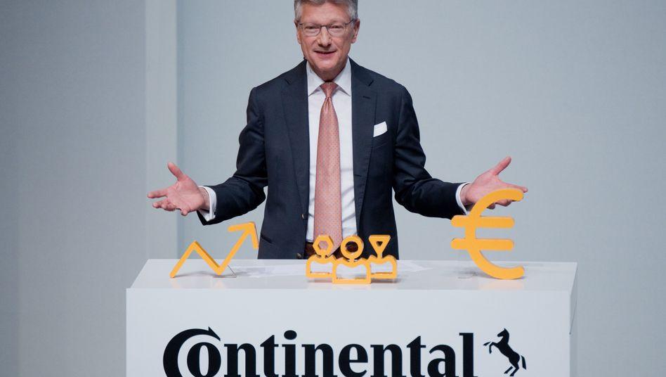 Als es noch etwas ruhiger war in Hannover: Continental-Chef Elmar Degenhart auf der Hauptversammlung im April