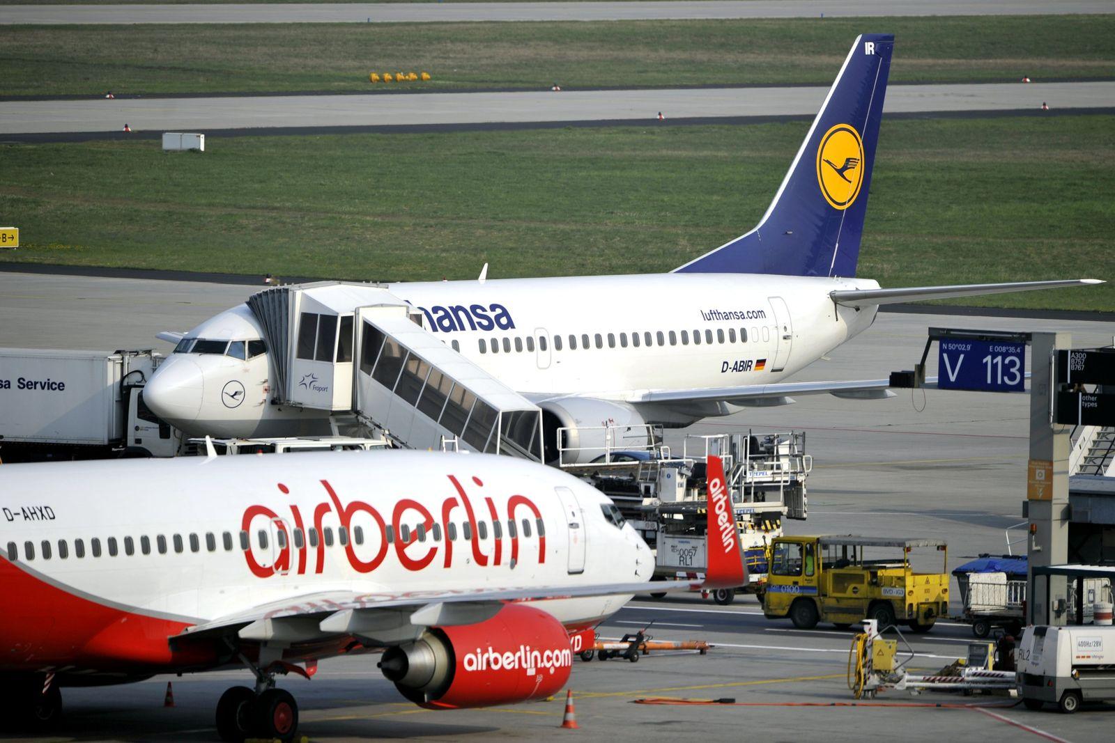 Lufthansa und Air Berlin nehmen Flugbetrieb wieder auf