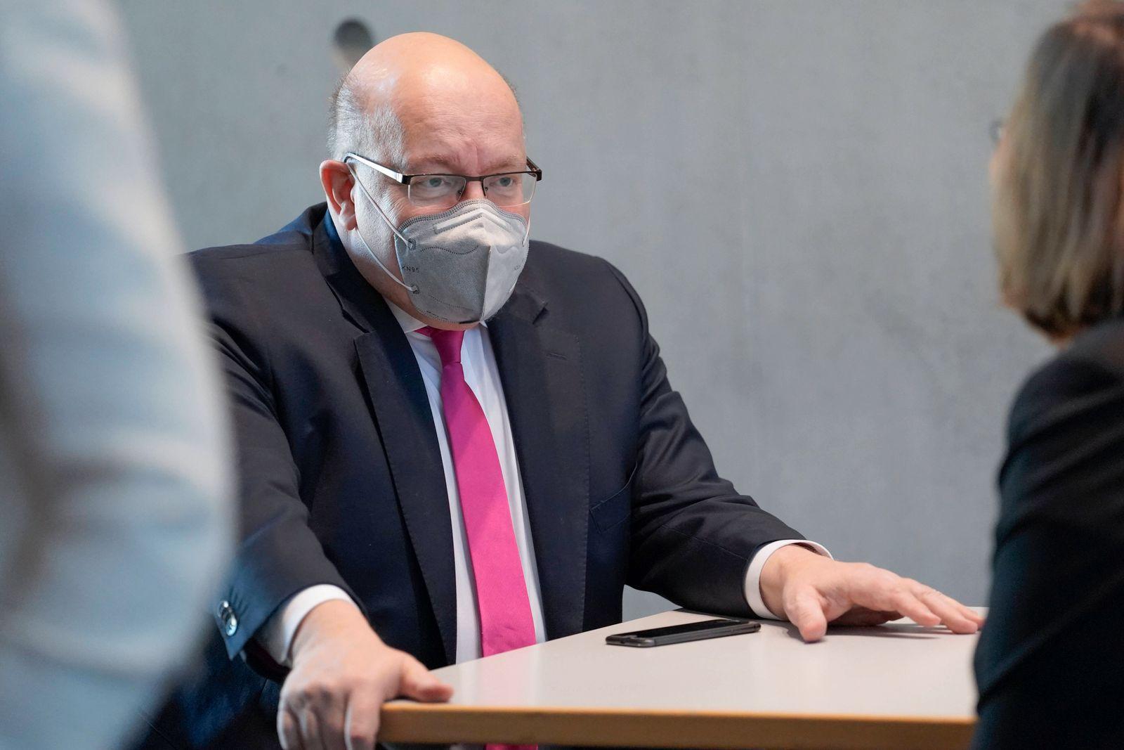 3. Untersuchungsausschuss Wirecard Aktuell, 20.04.2021, Berlin, Peter Altmaier der Bundesminister fuer Wirtschaft und E