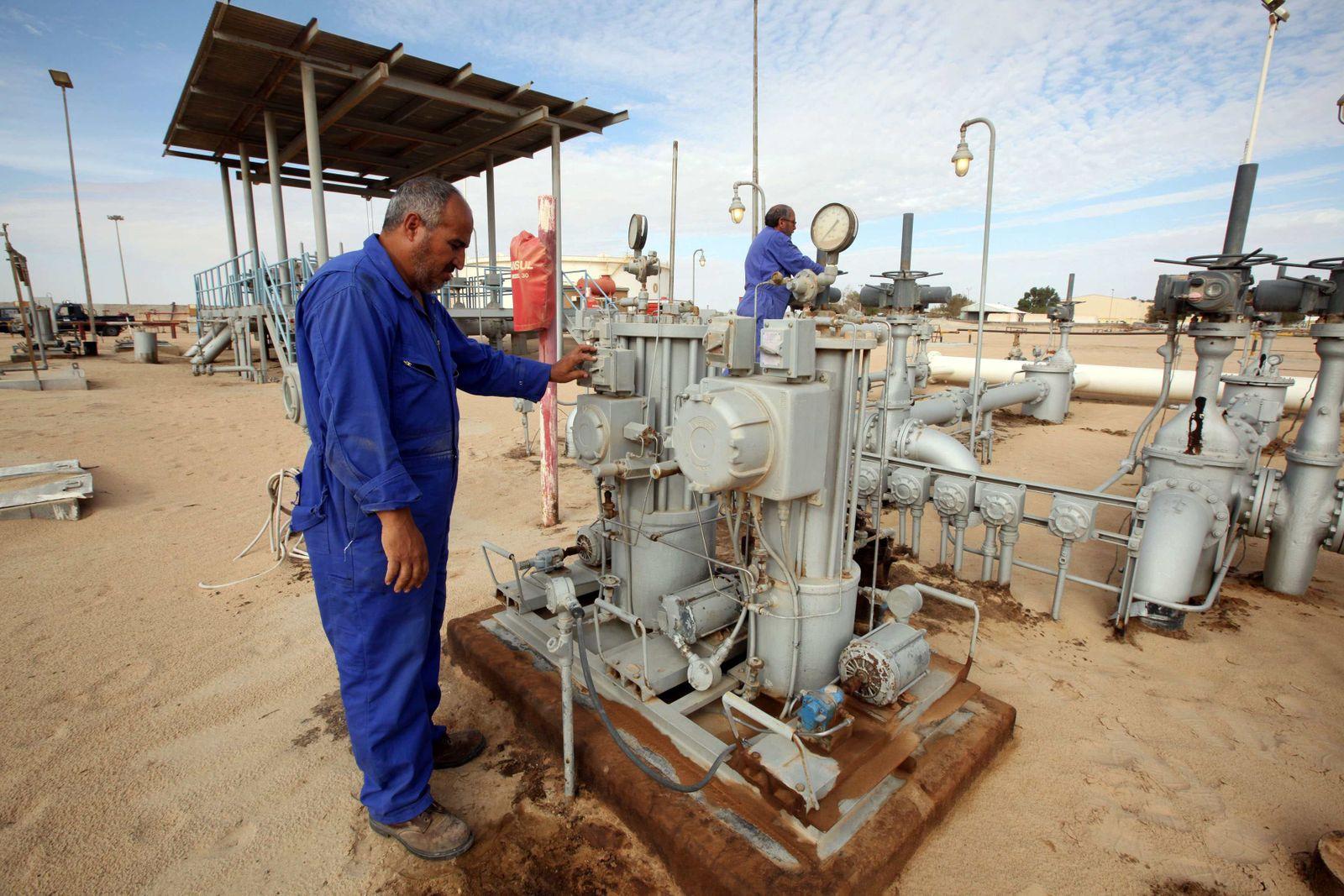 Libyen / Ölförderung