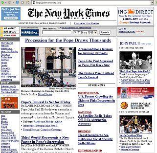 Screenshot nytimes.com: Misstrauen gegenüber Online-Kollegen
