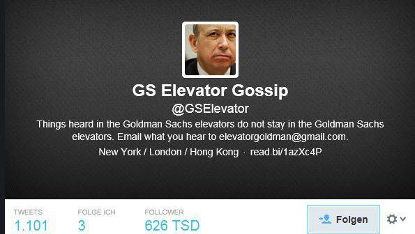 Dinge bleiben nicht im Fahrstuhl: Twitter-Account @GSElevator
