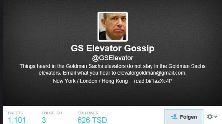 @GSElevator: Das Beste (angeblich) aus dem Fahrstuhl von Goldman Sachs