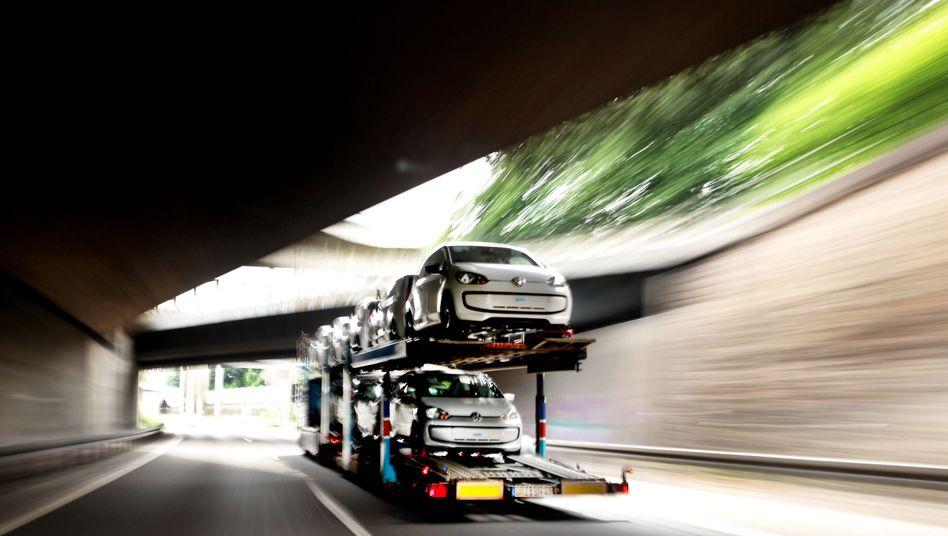 Autos für den Export: Bislang eine Stärke der deutschen Wirtschaft